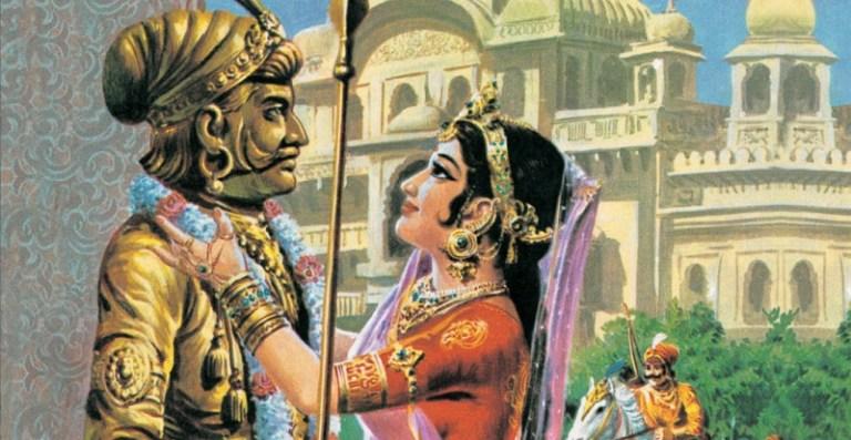 Prithviraj-Chauhan-Sayongita-ka-syumber