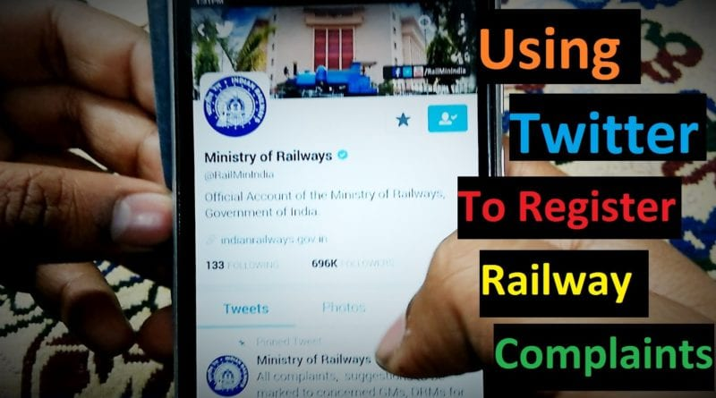 twitter complain railway india